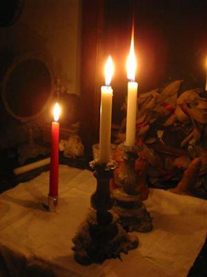 rituel de bougies